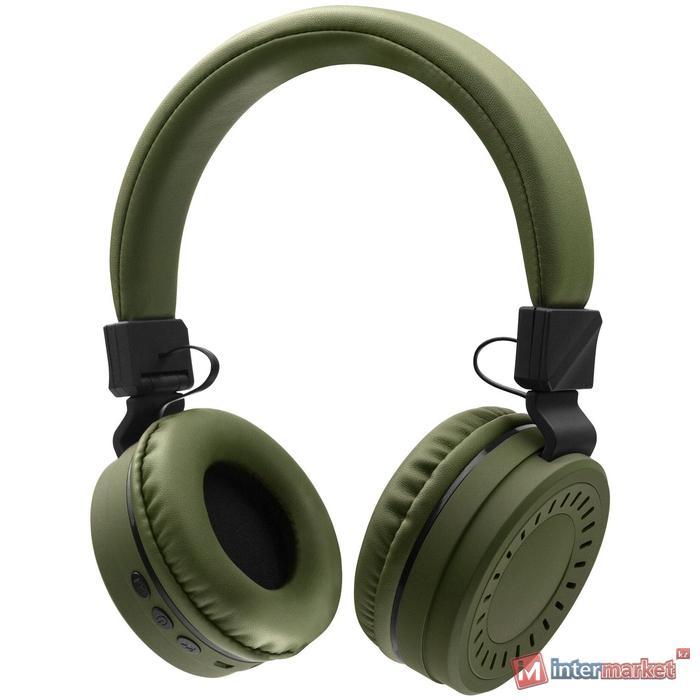 Bluetooth гарнитура Rombica MySound BH-11, 20Hz-20kHz, 32 Om, 66 dB, BT 5.0, FM, microSD, 1.3m,Green
