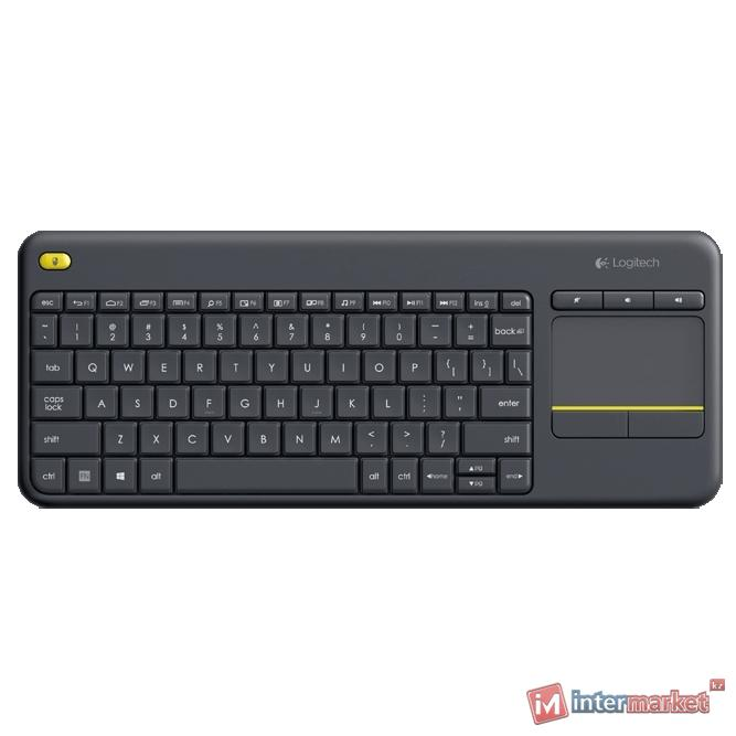 Клавиатура Logitech K400 Plus, Gray, USB
