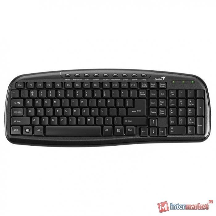 Клавиатура, Genius, KB-M225 C, USB, Чёрный